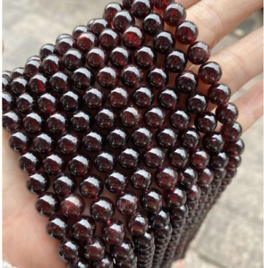 Wholesale Natural Gemstone Garnet Round Spacer Loose Beads 4mm 6mm 8mm 10mm
