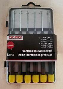 Precision SCREWDRIVER SET 6 piece Magnetic 3 Phillips 3 Flathead NEW Sealed