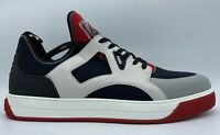 $750 Fendi Neoprene and Leather Sneakers size US 12 Made in Italy