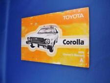 TOYOTA COROLLA 1976 OWNERS MANUAL A CAR MAINTENANCE GLOVE BOX GUIDE