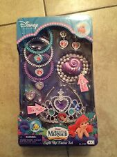 New In Box Vintage Disney Little Mermaid Ariel Tiara Crown Necklace Jewelry Set