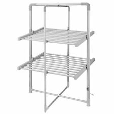 Heated Airer Folding 2 Tier Dryer Rack Indoor Laundry Clothes Drying Horse Rack