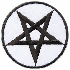 Pentagram 666 Satanic Pentacle Occult Goth Daemon Wicca Star Iron-On Patch #0885