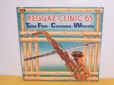LP - REGGAE CLINIC 65 - TAKE FIVE - CARAVAN - WHEELS ( RED VINYL )