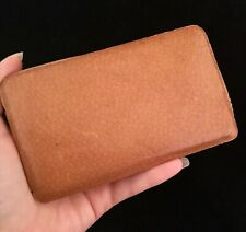 Vintage gents 1930's pigskin leather wallet, Sir John Bennett