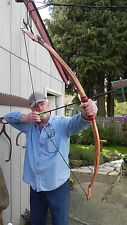 "Archery Recurve Indian Bow ""The Buckskin"" Bow 58in, 45-50lb  @28in Leather Grip"