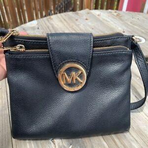 Michael Kors Small Black Leather Crossbody
