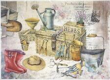 Rice Paper for Decoupage Scrapbook Craft Sheet - Herbs Gardening