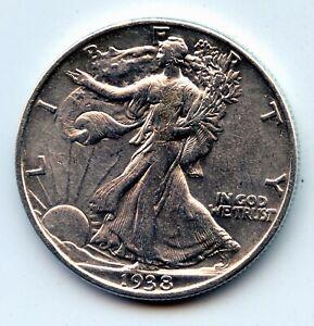 Walking Liberty half 1938-p (SEE PROMO)
