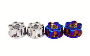 2pcs Titanium M16 / M18 / M20 motorcycle rear axle nuts Thread Pitch 1.5