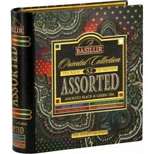 Basilur Ceylon Tea Oriental Collection Tea Book Metal Box 32 Tea Bags
