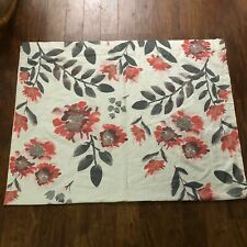 TARGET Threshold Climbing Vine Floral Curtain Panel Pink Red Gray PAIR 84L