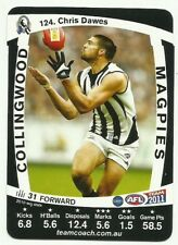 2011 AFL TEAMCOACH COLLINGWOOD MAGPIES CHRIS DAWES 124 COMMON CARD free post
