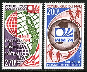 Mali 214-215, MNH. World Soccer Cup, Munich, 1974