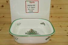 """Spode Christmas Tree  Baker Large Square Rim Dish, 12"""" x 3""""  MADE IN ENGLAND"""