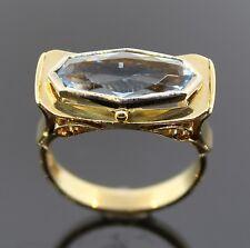 STILVOLLER 3,00ct - AQUAMARIN-RING MIT  EDELER FASSUNG AUS 585/-GOLD Wert 998,-€