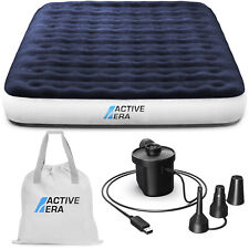 Active Era® Luxury Queen Air Mattress with Usb Rechargeable Pump & Travel Bag