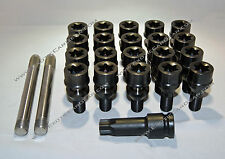lamborghini Gallardo 2004-2007 Titanium Wheel Bolts - Black Finish