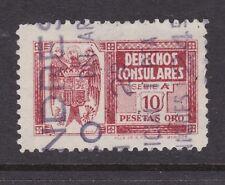Spain 1940 10 Pst Consular Revenue Series A VFU VGC