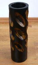 Dekovase Mangoholz mit Löchern Bodenvase Blumenvase Tischvase