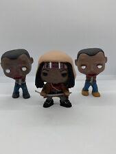 Funko Pop ~ The Walking Dead ~ Michonne & Her Pets 1 & 2 ~ Figure Set