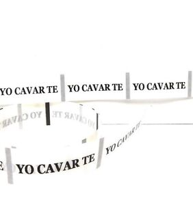 """50 """"Yo Cavar Te"""" Stickers"""", Fits Our Toy Shovels, Stickers 3/4"""" High x 2"""" Long*"""