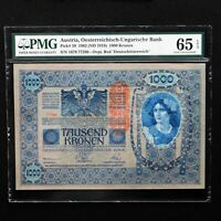 Austria 1902 (ND 1919), 1000 Kronen Pick # 59, PMG 65 EPQ Gem Uncirculated