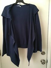 Hot Cotton Shrug With Hoodie Plus Size 1X Blue NWT