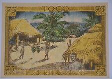 COLONY *TOGO DORF BEI MISSAHOHE* NOTGELD 75 PFENNIG 1921 BANKNOTE GERMANY (7113)