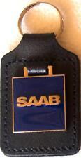 Saab Keyring Key Ring - badge mounted on a leather fob