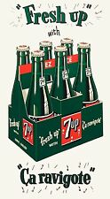 7up Soda Bottle Advertising High Quality Metal Fridge Magnet 2.75x5 inches 9882