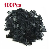 100 Pcs Plastic Contoured Side Release Buckles Clasps For Bracelet Backpack