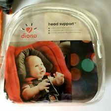 Diono Head Support Car Seat Insert Super soft And Comfy! Grey/Orange