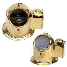 Nautical Brass Vintage Oil Lamp Binnacle Helmet Gimballed Compass Home Decor