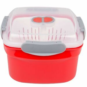 Microwave Cookware Steamer- 3 Piece Microwave Cooker w Food Container, Remova...