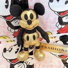 In stock Mickey mouse memories August plush Black Gold Disney store genuine NWT