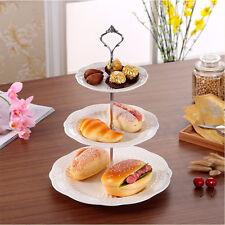 Cupcake Stand Stainless Round Steel  Wedding Birthday-Cake Display Tower 3 Tier
