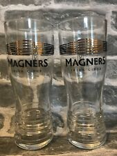 MAGNERS CIDER PINT GLASSES (X2) - NEW / CE STAMPED / NUCLEATED
