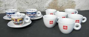 9 tazzine caffè Illy Art Collection - 3 Gillo Dorfles + 6 Illy