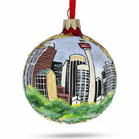 Calgary, Canada (Calgary Tower) Glass Ball Christmas Ornament