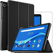 For Lenovo Tab M10 Plus Smart Case Stand Cover & Glass Screen Protector TB-X606