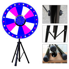 """Upgraded 24"""" Color Fortune Prize Wheel Tabletop Spinning Game+Tripod Editable"""