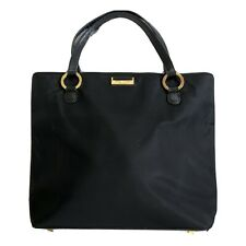 Kate Spade New York Black Nylon Gold Hardware Mini Tote Bag EUC Authentic