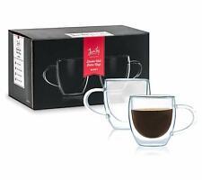 Javafly Double Wall Glass Espresso Mug With Handle 4 Oz Set Of 2