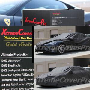 2014 2015 TESLA MODEL S WATERPROOF CAR COVER W/MIRROR POCKET -BLACK