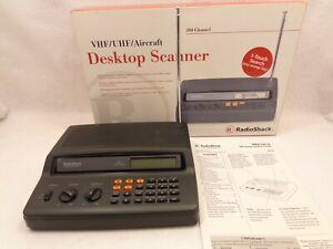 Radio Shack PRO-2018 VHF/UHF/Aircraft Desktop Scanner 200 Channel No Cord AU11