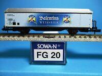 SOWA-N FG 20 DB HBis Kühlwagen, Bierwagen Valentins Weissbier,Neu,OVP,M 1:160