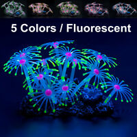 Fluorescent Silicone Aquarium Coral Plant Water Aquatic Fish Tank Ornament