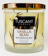 1 Tuscany Candle VANILLA BEAN Premium Wax Soy Blend 3-Wick Tumbler Large 14 oz