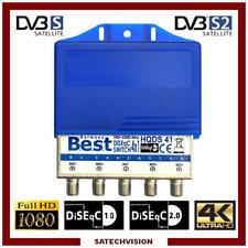 Commutateur DiSEqC 4/1 Best Germany 4 Entrées LNB & 1 sortie Récepteur HD 3d 4k